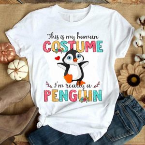 Halloween Human Costume Penguin Lover Cute Funny shirt