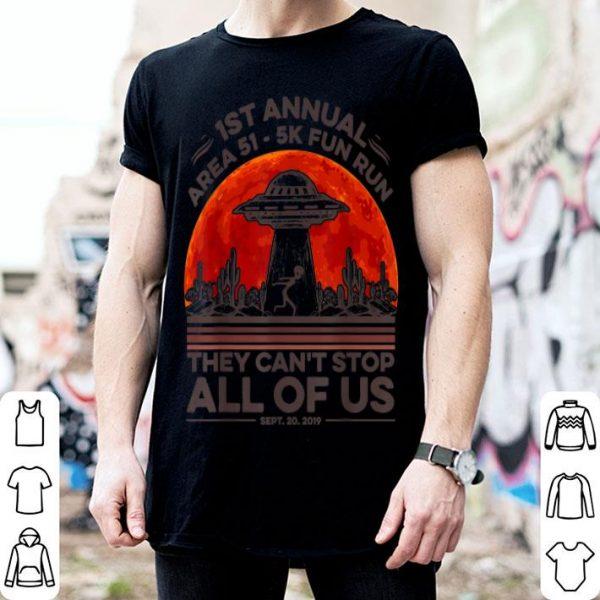Hot Alien UFO 1st Annual Area 51 5k Fun Run Halloween Costume shirt