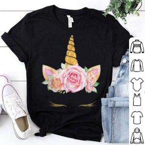 Hot Colorful Funny Unicorn Face Halloween shirt