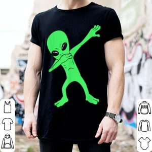 Hot Dabbing Alien Halloween Funny Dab Boys Kids Girl shirt