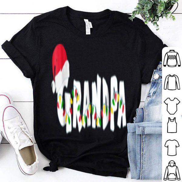 Hot Grandpa Christmas Pajama Family Matching Santa Hat shirt