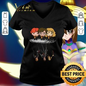 Hot Harry Potter chibi reflection water mirror Ron and Hermione shirt