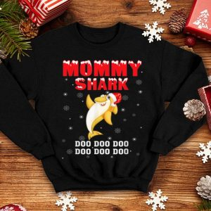 Hot Mommy Shark Santa Christmas Family Pajamas shirt