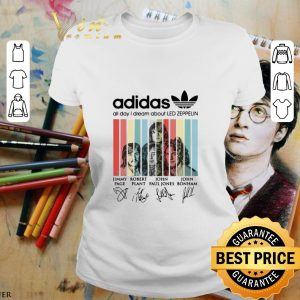 Hot adidas all day i dream about Led Zeppelin signatures vintage shirt 1