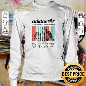 Hot adidas all day i dream about Led Zeppelin signatures vintage shirt 2