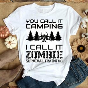 Nice Camping Zombie Survival Funny Halloween shirt
