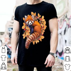 Nice Cute Red Panda Fall Autumn Thanksgiving Day Gifts shirt