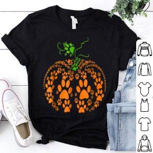 Nice Dog Paw Pumpkin Halloween shirt
