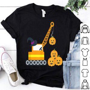 Nice Halloween for Boys Crane Truck JackoLantern Pumpkin shirt