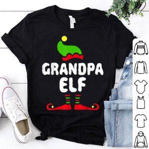 Nice Mens Grandpa Elf Matching Christmas Costume shirt