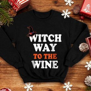Nice Witch Way To The Wine Halloween Witch Wine shirt