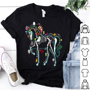 Official Halloween Horse Skeleton Gift for Women Men shirt