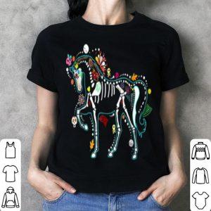 Official Halloween Horse Skeleton Gift for Women Men shirt