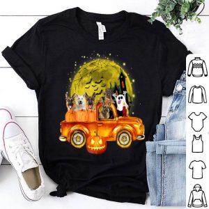 Original Happy Halloween German Shepherd Gift Pumpkin Truck shirt