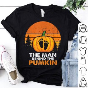 Original Mens The Man Behind The Pumpkin Halloween Costume New Dad Gifts shirt