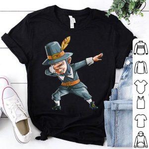 Original Thanksgiving Dabbing Pilgrim Elf Funny Holiday Fall Gift shirt