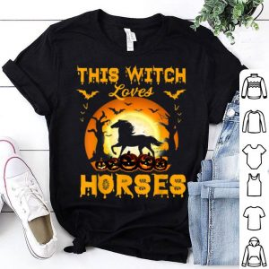 Original This Witch Loves Horses Halloween Cosplay shirt