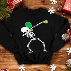 Premium Dabbing Skeleton Halloween Pickleball shirt