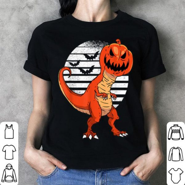 Premium Dinosaur Pumpkin Head Halloween Costume Gift For Boys shirt