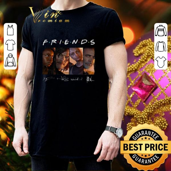 Premium Friends The Walking Dead signatures shirt
