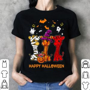 Premium Giraffe Happy Halloween Cute Mummy Witch Pumpkin shirt