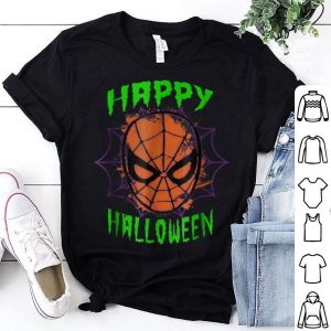 Premium Marvel Spider-Man Mask Happy Halloween Graphic shirt