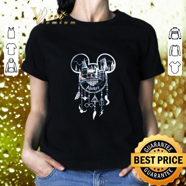 Premium Mickey Head Always Harry Potter Hogwarts Dreamcatcher Disney shirt
