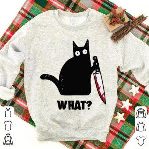 Premium trending Cat What Murderous Black Cat With Knife shirt