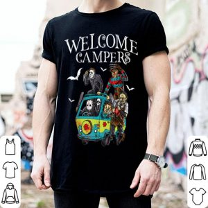 Premium welcome campers funny camping 80s Horror Movie shirt