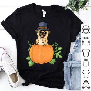 Pretty Thanksgiving Pug Dog Mom Hat Pumpkin Pie shirt