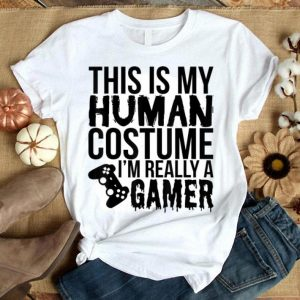 Top Halloween Gift - This Is My Human Costume I'm Really A Gamer shirt
