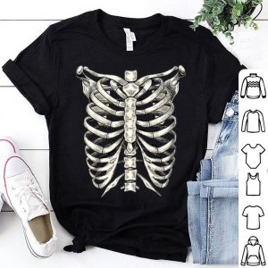 Top Skeleton Rib Cage Halloween Skeleton Costume shirt