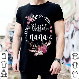 Awesome Blessed Nana Thanksgiving Floral Funny Gift shirt