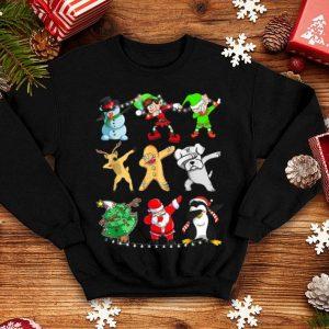 Awesome Dabbing Santa Elf Snowman Reindeer Dog penguin Xmas Tree shirt