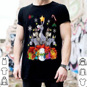 Awesome Donkey Christmas Tree Cute Decor Gift Xmas Presents shirt