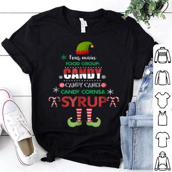 Awesome Four Main Food Groups Elf Buddy Christmas Pajama shirt