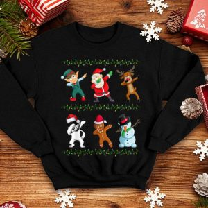 Awesome Funny Dabbing Santa Alaskan And Friends Christmas shirt