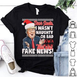 Awesome Funny Donald Trump Fake News Ugly Christmas Sweater Style sweater