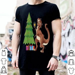 Awesome Funny T-Rex Christmas Tree Topper Dinosaur Lover Costume shirt