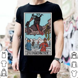 Awesome Krampus Judgement Tarot Card Funny Christmas Parody Witch shirt