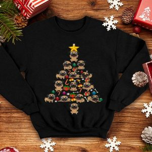 Awesome Pug Christmas Tree Funny xmas Pug shirt