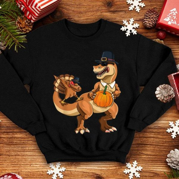 Awesome Thanksgiving Day T-rex Dinosaur Gobble Dabbing Turkey Lover shirt