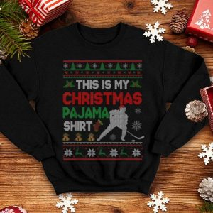 Awesome This Is My Christmas Pajama Funny Hockey Sweater Gift shirt