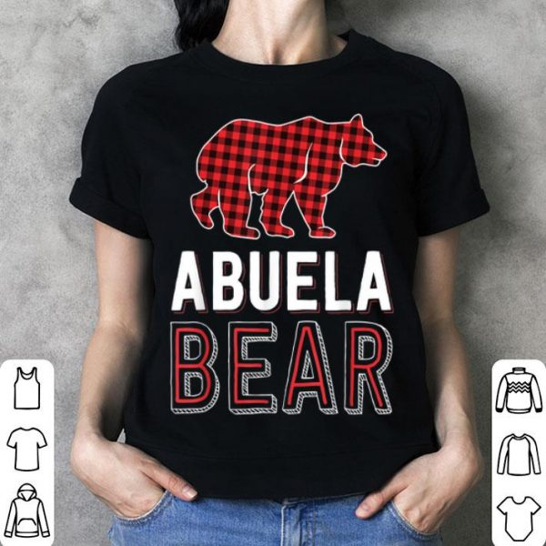 Beautiful Abuela Bear Red Buffalo Plaid Matching Family Christmas shirt