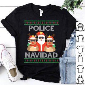 Beautiful FUNNY POLICE NAVIDAD Santa Christmas Party Gift shirt