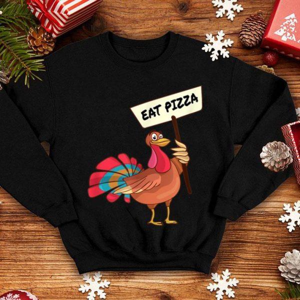 Beautiful Funny Save a Turkey Eat Pizza Thanksgiving Vegan Kids Adults shirt