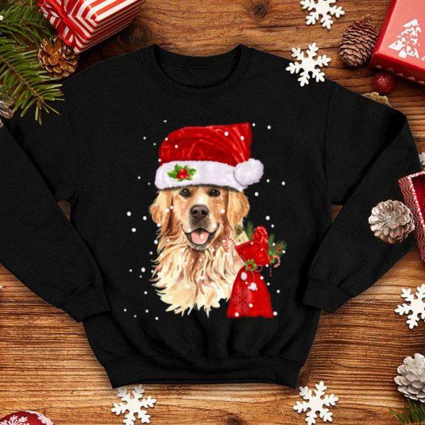 Beautiful Golden Retriever Dog Christmas Holiday Gift shirt