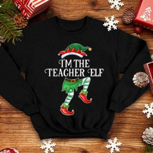 Beautiful I'm the Teacher Elf Christmas Matching Family Group Gift shirt