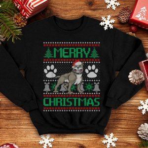 Beautiful Merry Christmas Pitbull Ugly Matching Funny Gift Dog Lover shirt