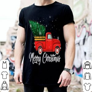 Beautiful Red Truck Pick Up Christmas Tree Vintage Retro sweater